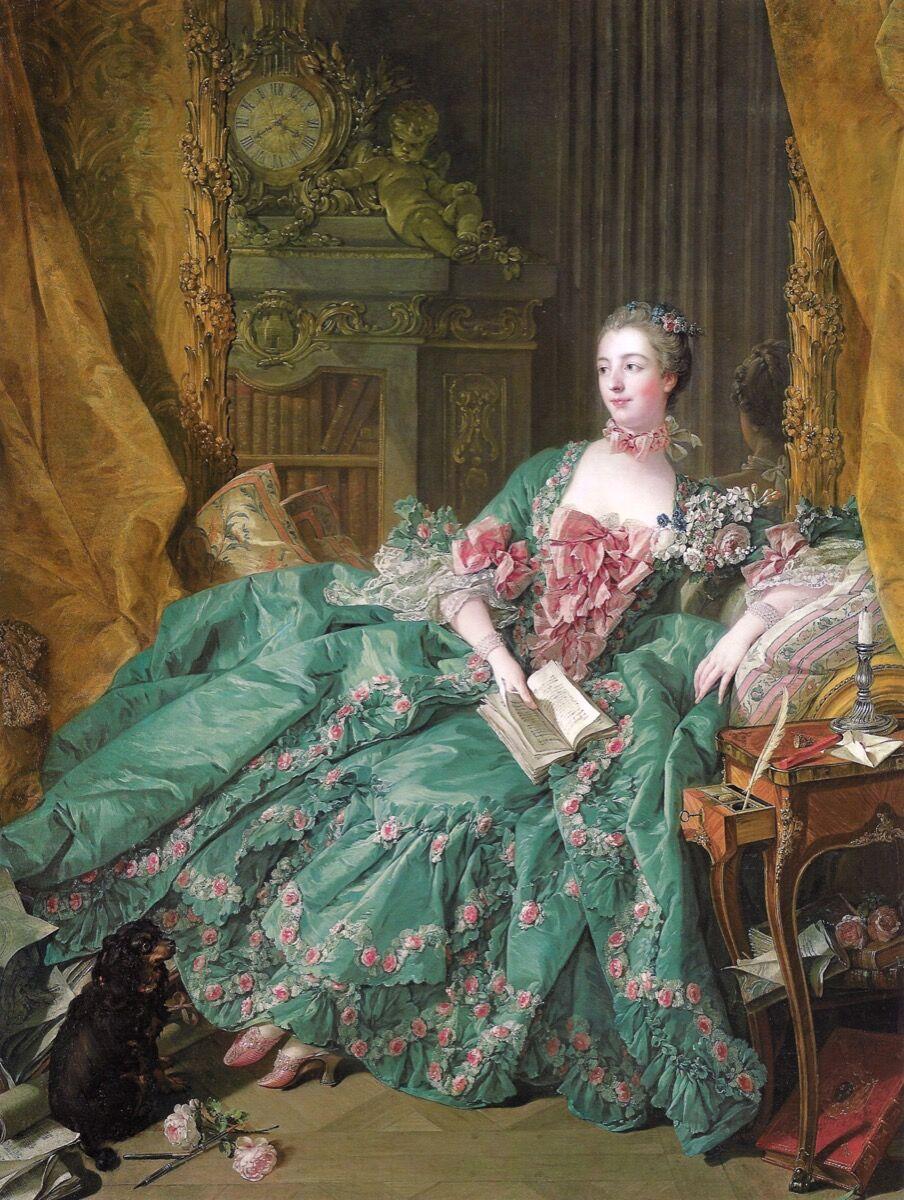 Francois Boucher, Madame de Pompadour, 1756. Imagen a través de Wikimedia Commons