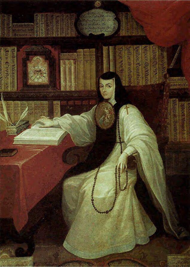 Miguel Cabrera, Portrait of Sor Juana Inés de la Cruz, ca. 1750. Image via Wikimedia Commons.