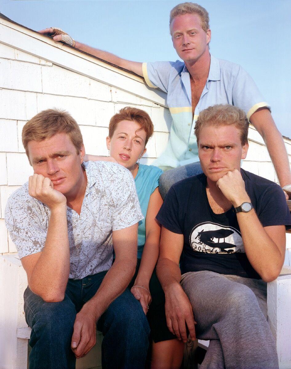 """Joel Meyerowitz , Steve, Debbie, Guy, and Mark, 1985, from """"Joel Meyerowitz: Provincetown."""" © Joel Meyerowitz. Courtesy of Aperture."""