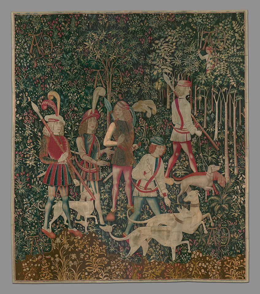 The Hunters Enter the Woods (from the Unicorn Tapestries), 1495 – 1505. Gift of John D. Rockefeller Jr., 1937. Image courtesy of the Metropolitan Museum of Art.