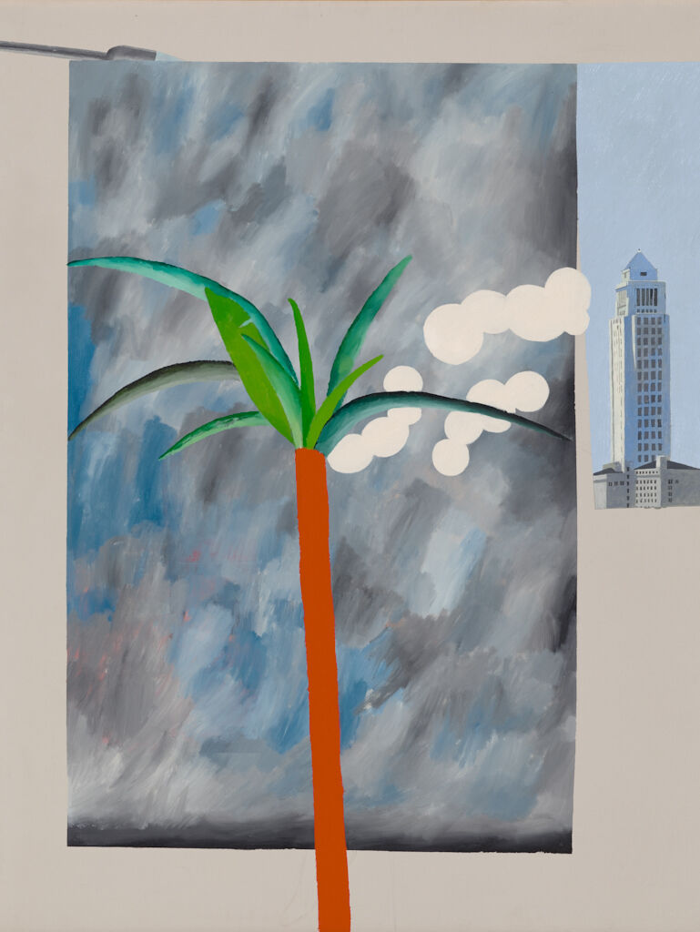 David Hockney, Plastic Tree Plus City Hall, 1964. Gift of Richard Brown Baker. Courtesy of the RISD Museum.
