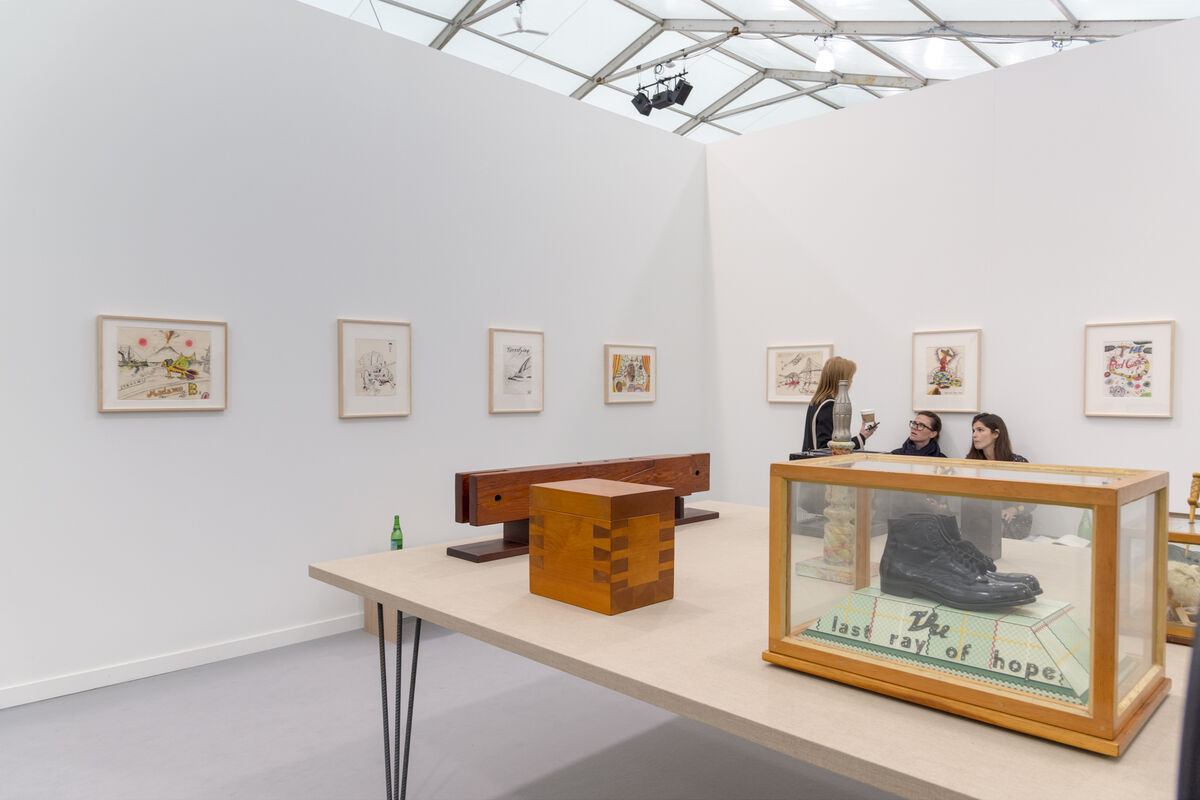 Installation view of Venus's booth at Frieze New York, 2016. Photo by Adam Reich for Artsy.