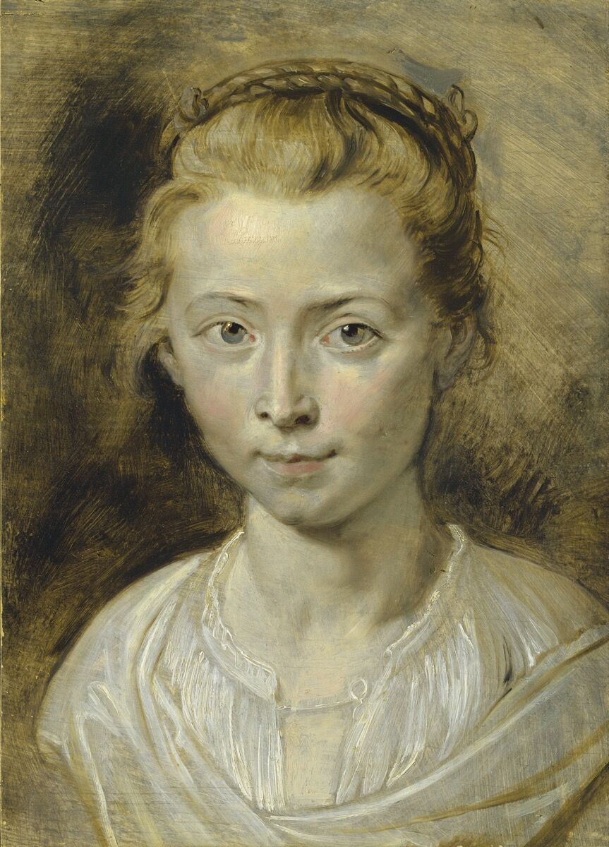 Sir Peter Paul Rubens, Portrait of Clara Serena Rubens, the artist's daughter, 1620-1623. Courtesy of Christie's.