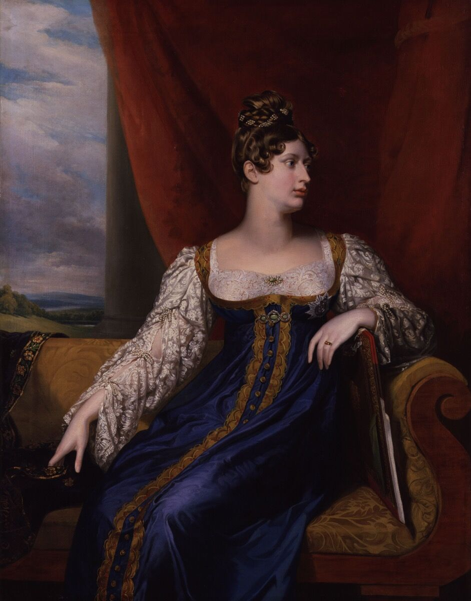 George Dawe, Portrait of Princess Charlotte of Wales, 1817. Image via Wikimedia Commons.