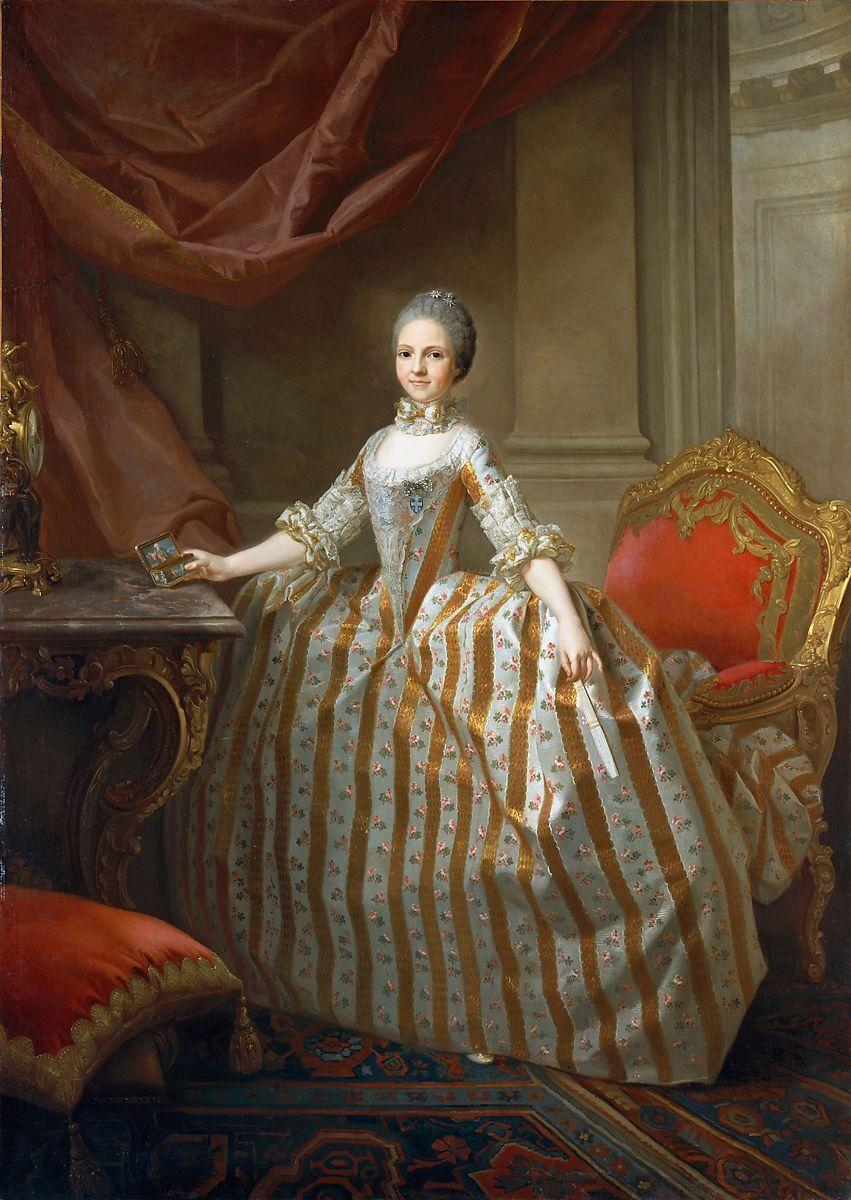 Laurent Pécheux, Maria Luisa of Parma (1715–1819), Later Queen of Spain, 1765. Courtesy of the Metropolitan Museum of Art.
