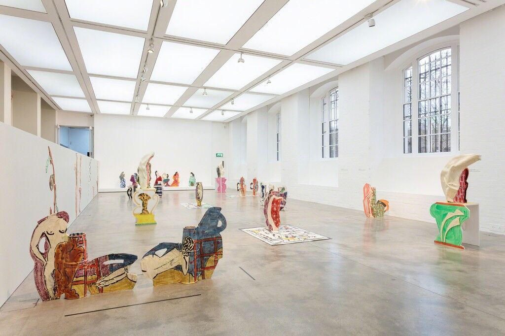 """Installation view of """"Betty Woodman: Theatre of the Domestic"""" at ICA, London. Photo: Mark Blower, courtesy of ICA London."""