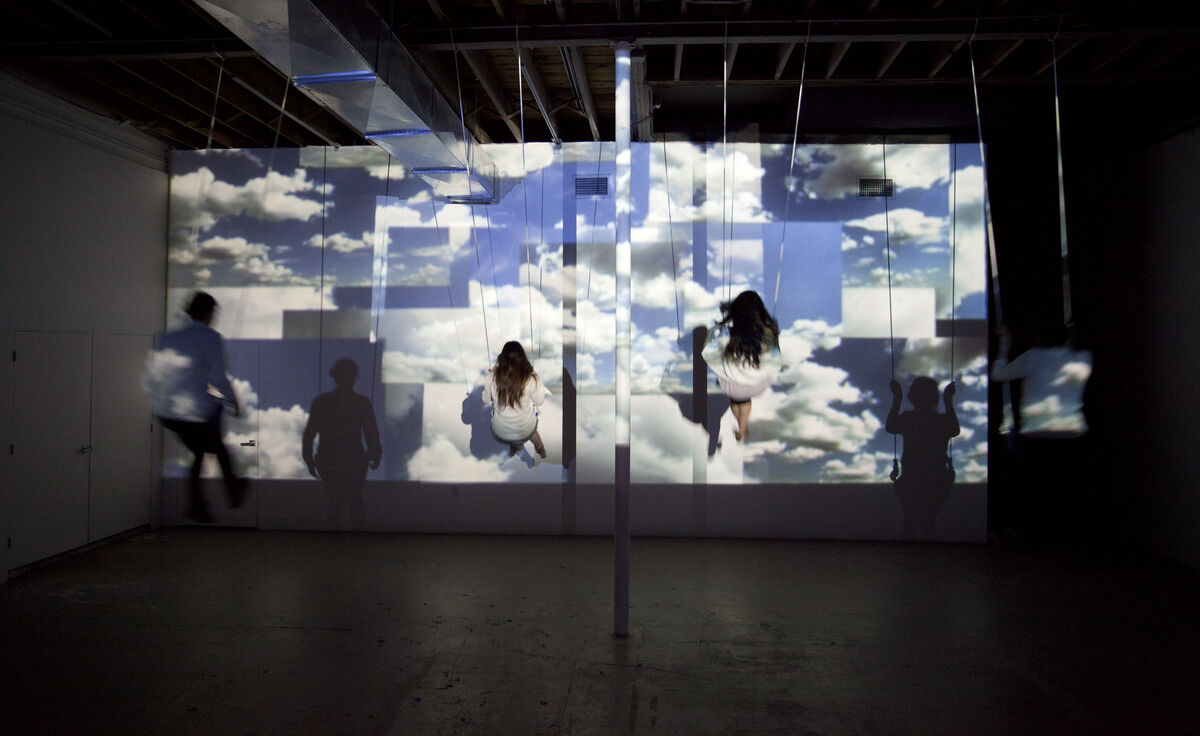 Jillian Mayer, Cloud Swing installation at Locust Projects. Photo by Zach Balber. Courtesy of the artist.