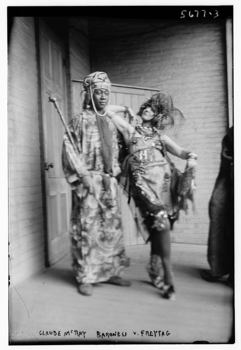 Claude McRay (i.e., McKay) and Baroness von Freytag-Loringhoven, before 1928. Courtesy of the Library of Congress.