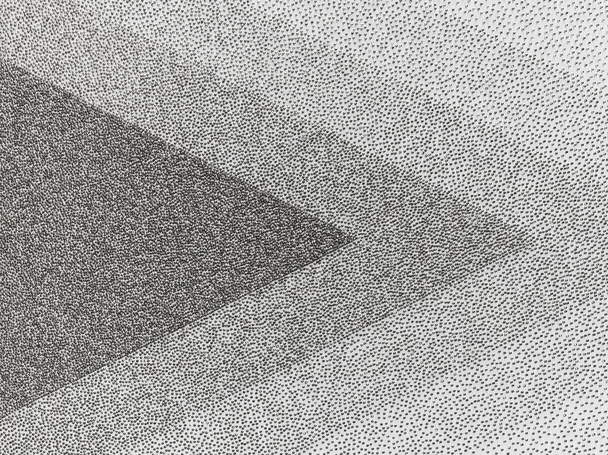Tara Donovan, Drawing (Pins), 2017. Courtesy of Pace.