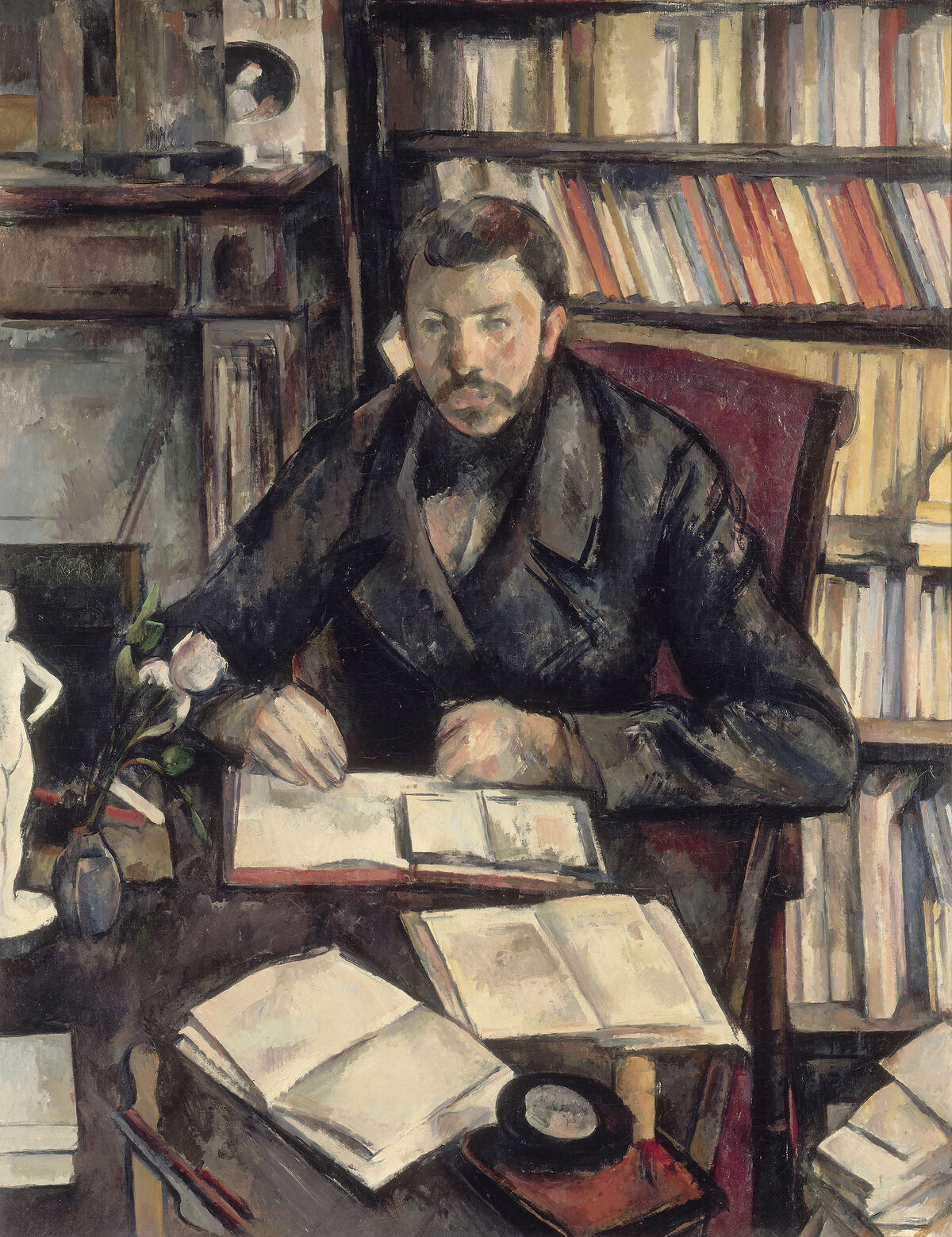 Paul Cézanne, Gustave Geffroy, c. 1895 - 1896. Courtesy of the National Gallery of Art.