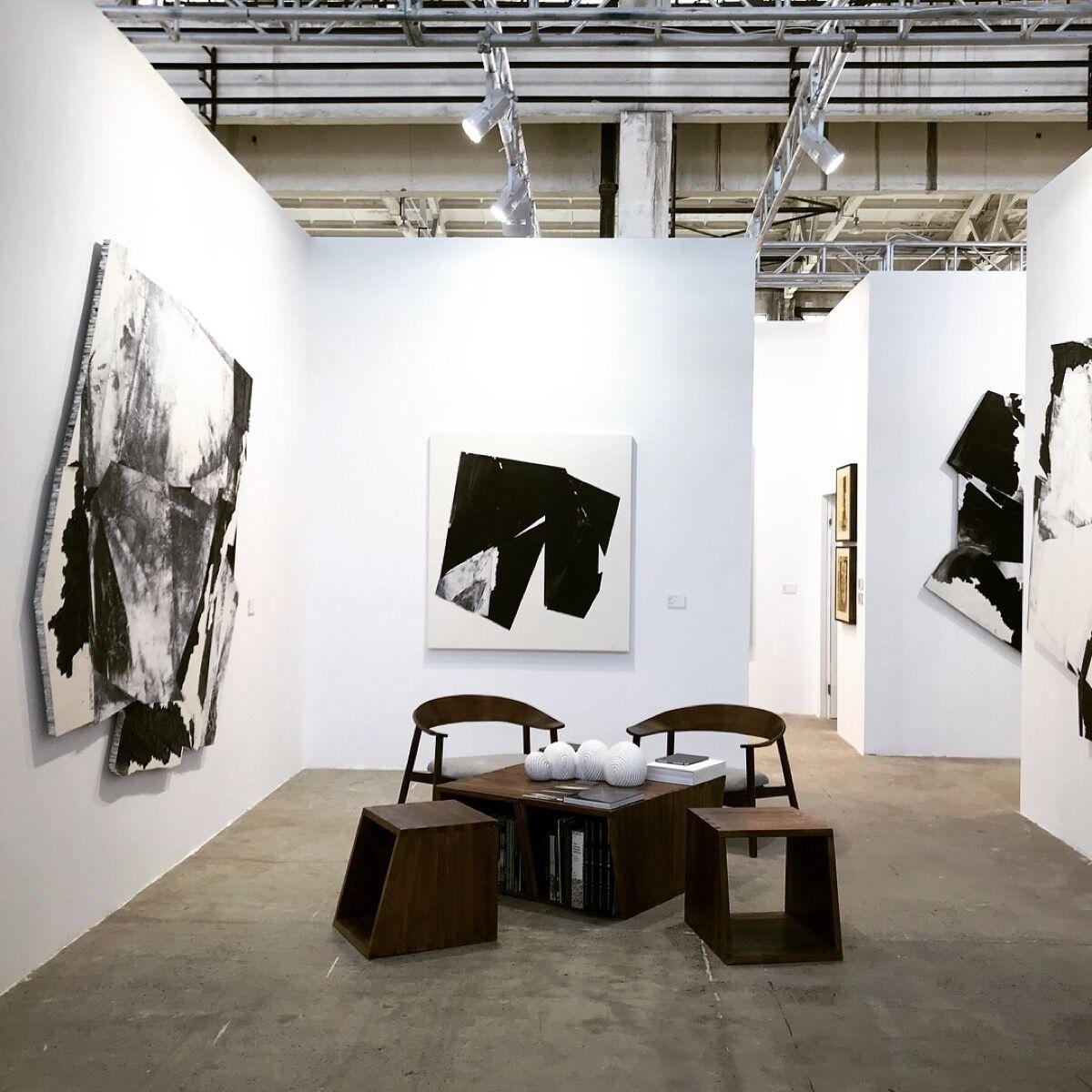Installation view of Ink Studio's booth at West Bund Art & Design, 2017. Courtesy of Ink Studio.