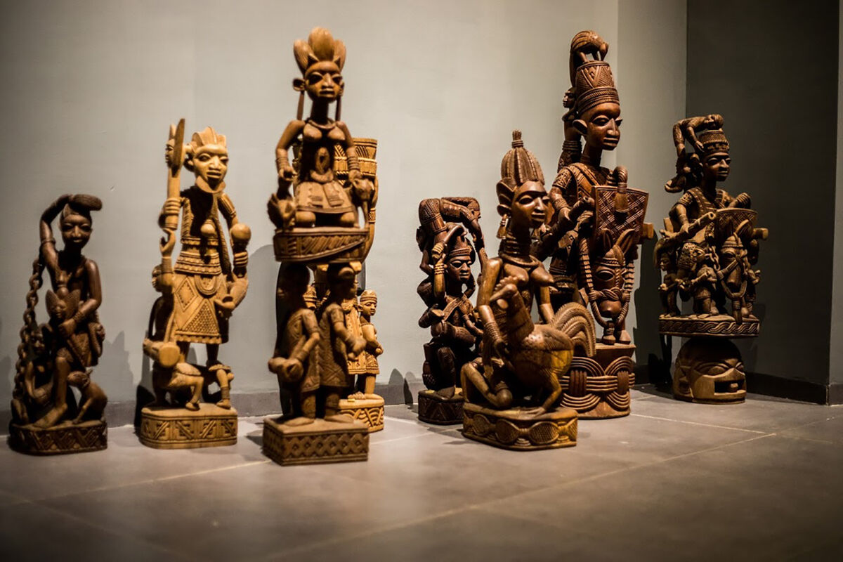 Installation view at Yemisi Shyllon Museum of Art. Courtesy of Yemisi Shyllon Museum of Art.
