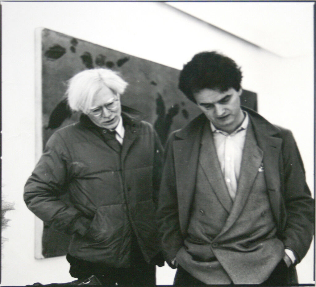 Andy Warhol & Hans Mayer (Galerie Hans Mayer), 1982, courtesy of Galerie Hans Mayer
