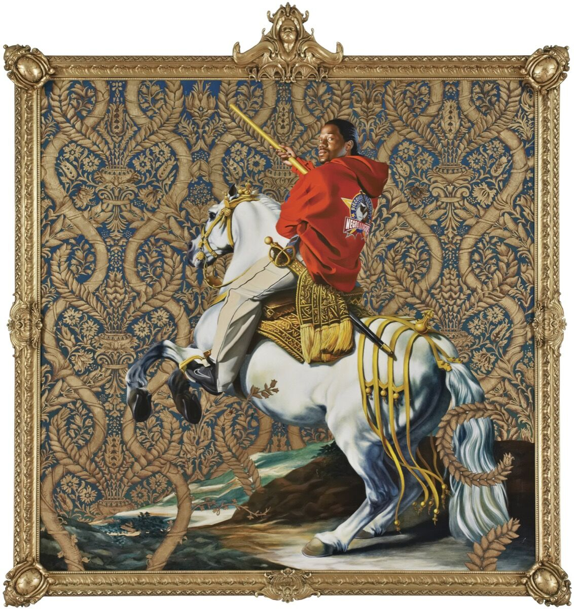 Kehinde Wiley Equestrian Portrait of the Count Duke Olivares, 2005.     Courtesy of Rubell Family Collection, Miami.