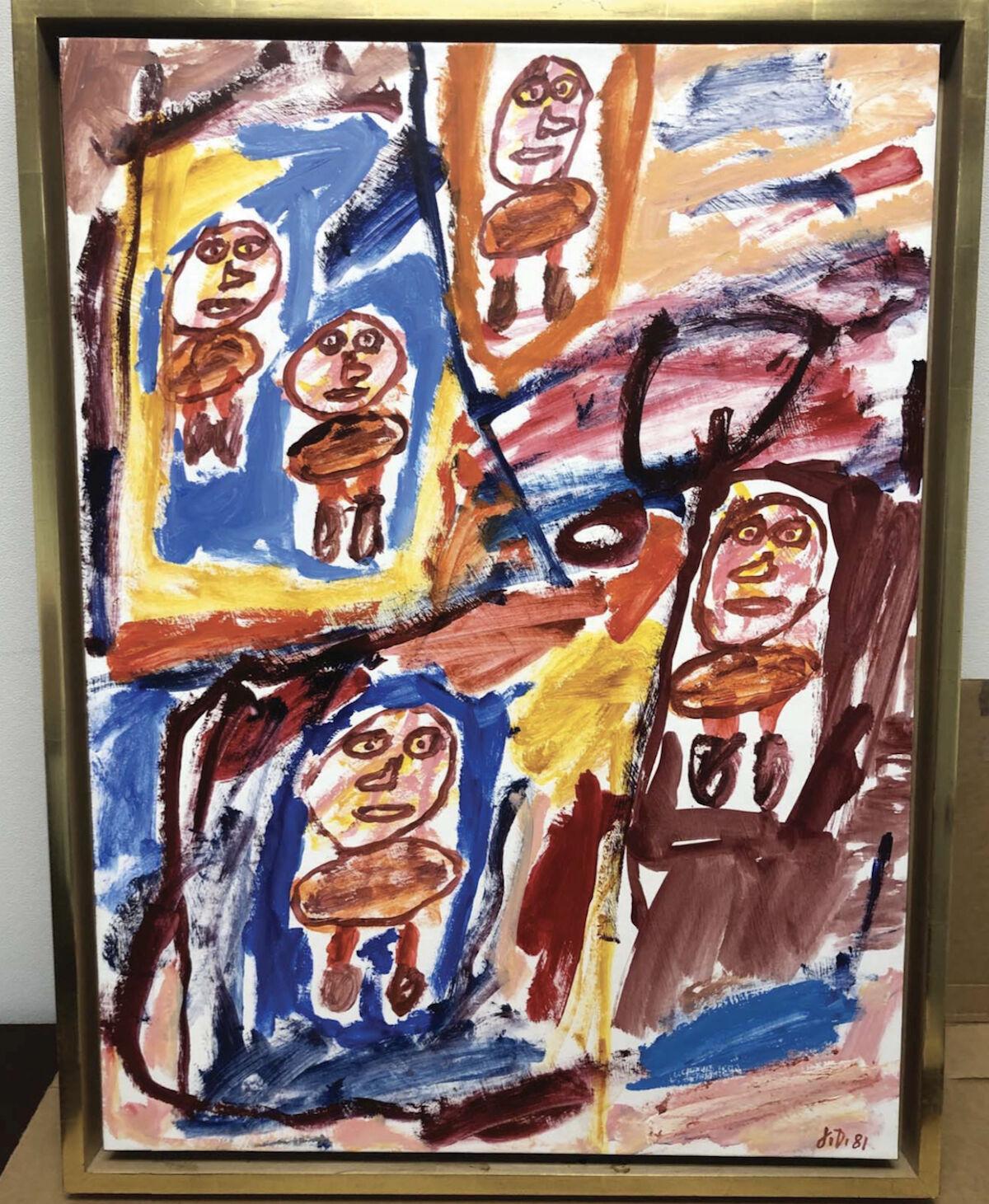 Jean Dubuffet,  Site avec 5 personnages , 1981. Via U.S. Department of Justice.