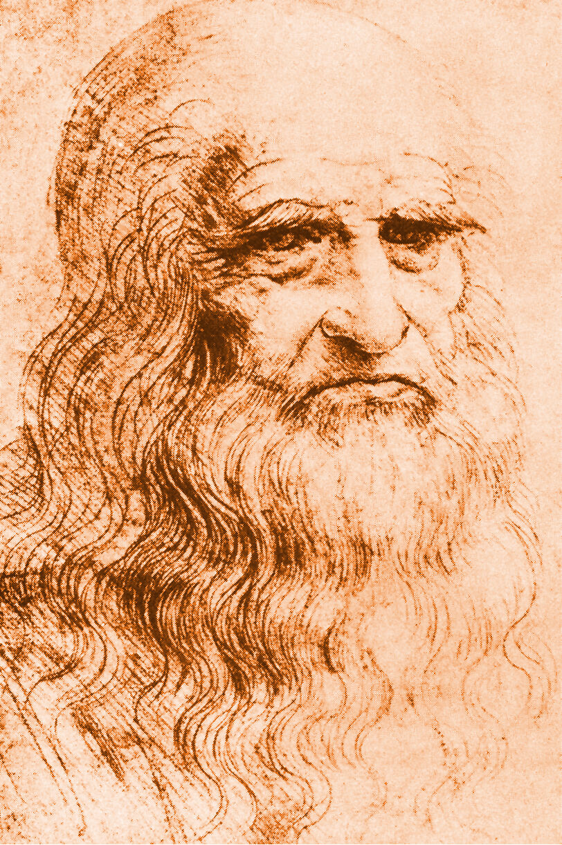 Leonardo da Vinci, Portrait of a Man in Red Chalk, ca. 1510–15. Image via Wikimedia Commons.