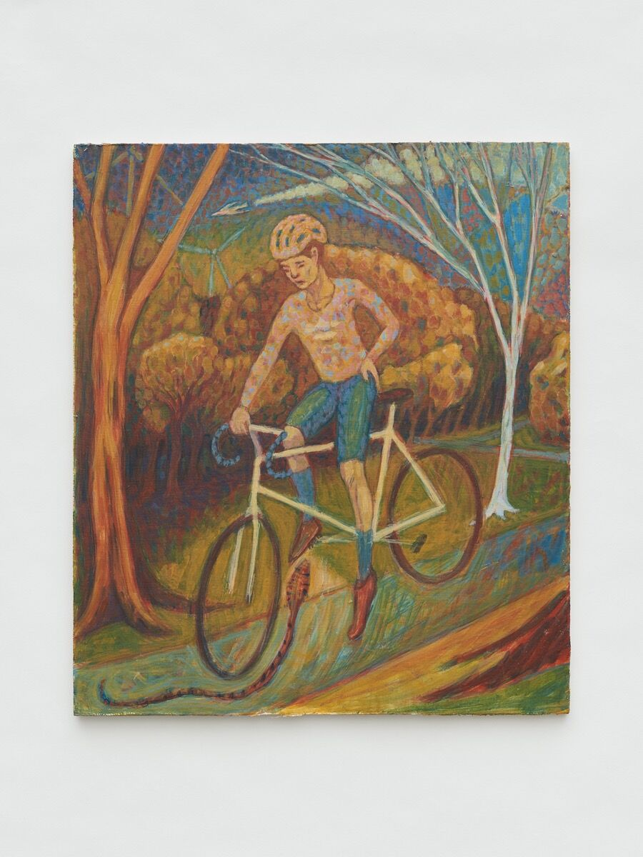Stephen Polatch, Cyclist and Snake, 2020. Photo by Theo Christelis. Courtesy of the artist and Soft Opening, London.