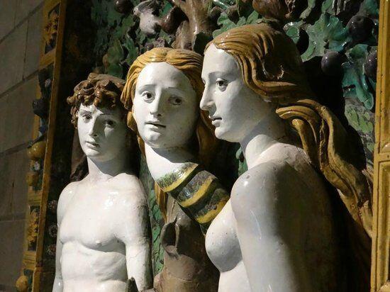 Giovanni della Robbia, Adam and Eve, ca. 1515.