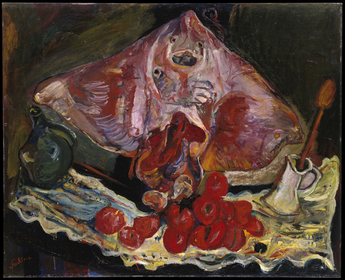 Chaim Soutine, Still Life with Rayfish, c. 1924. © Artists Rights Society (ARS), New York. Courtesy of The Metropolitan Museum of Art / Art Resource, New York and The Jewish Museum, New York.