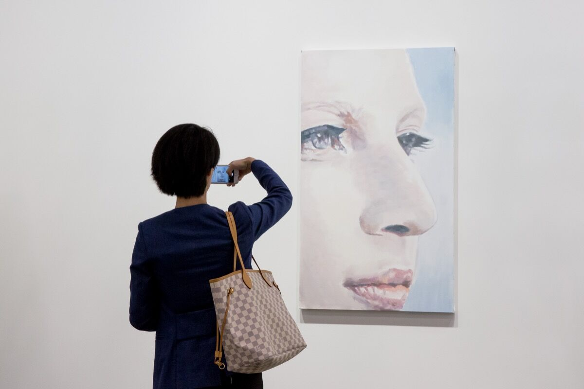 Installation view of David Zwirner's booth at Art Basel in Hong Kong, 2017. Courtesy of Art Basel.
