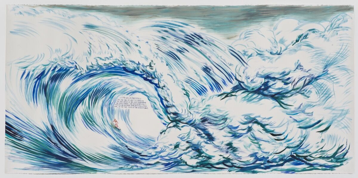 Raymond Pettibon,No Title (Let me say), 2012. Private collection. Courtesy Regen Projects, Los Angeles.