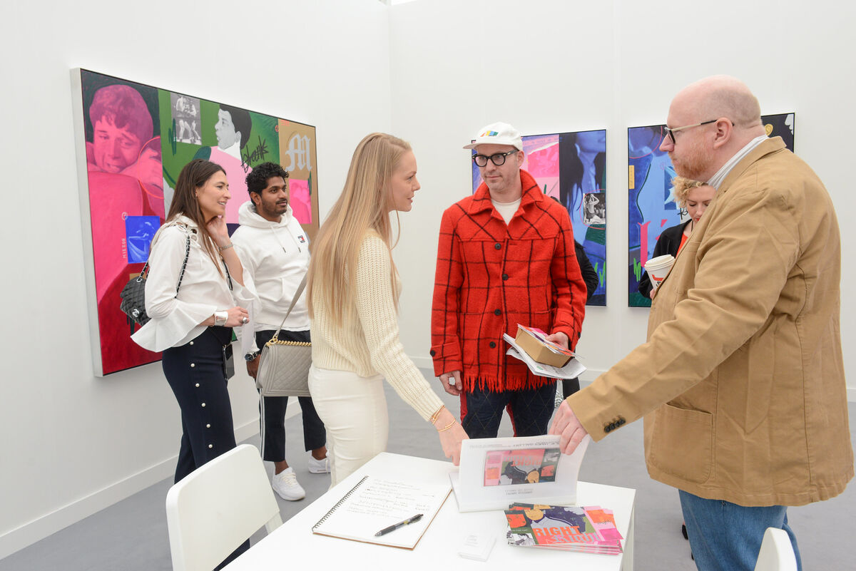 Installation view of Charlie James Gallery's booth at Frieze Los Angeles, 2020. Photo by Casey Kelbaugh. Courtesy of Casey Kelbaugh / Frieze.