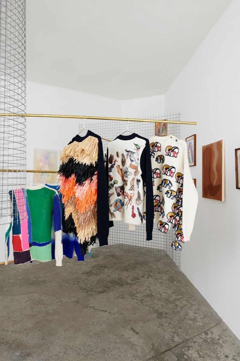 """Installation view of """"Modes & travaux"""" at Galerie Georges-Philippe & Nathalie Vallois, 2020. Courtesy of  Galerie Georges-Philippe & Nathalie Vallois."""