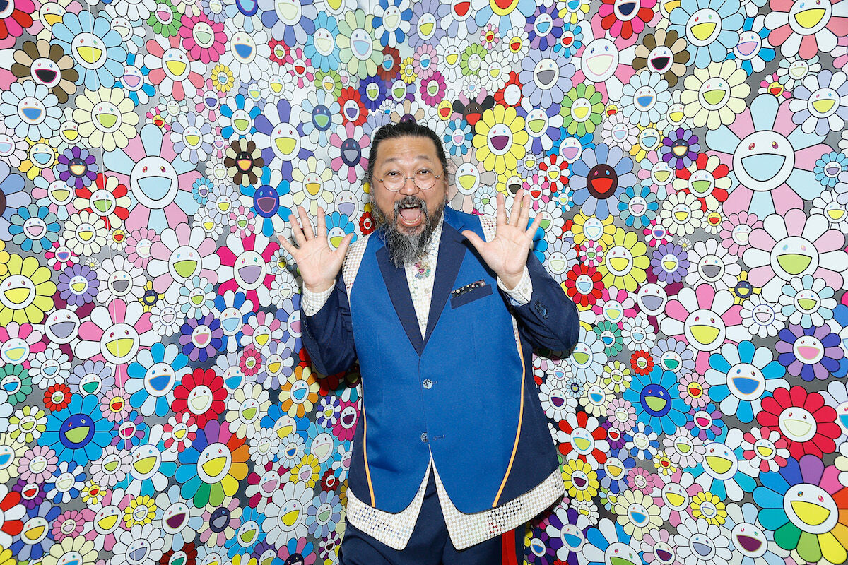Takashi Murakami at the Fondation Louis Vuitton in Paris in 2018. Photo by Julien M. Hekimian/Getty Images.