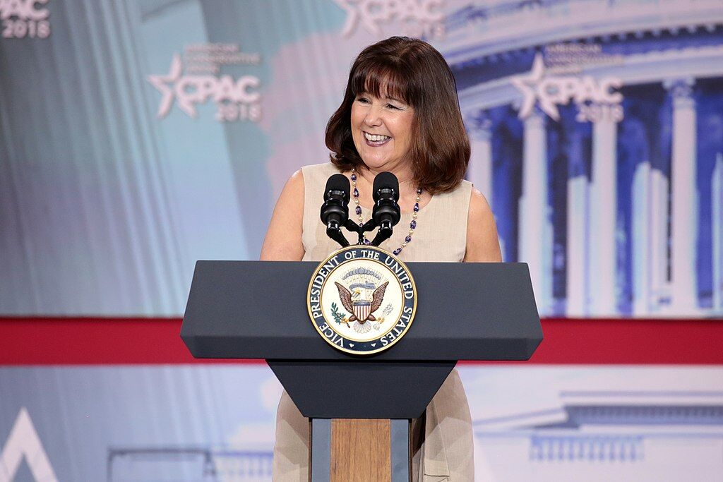 Second Lady of the United States, Karen Pence, speaks at the 2018 Conservative Political Action Conference. Image via Wikimedia Commons.