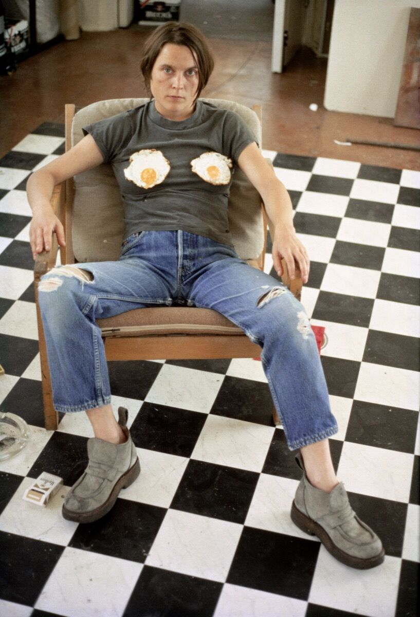 Sarah Lucas, Self-portrait with Fried Eggs, 1996. © Sarah Lucas. Courtesy of Sadie Coles HQ, London.