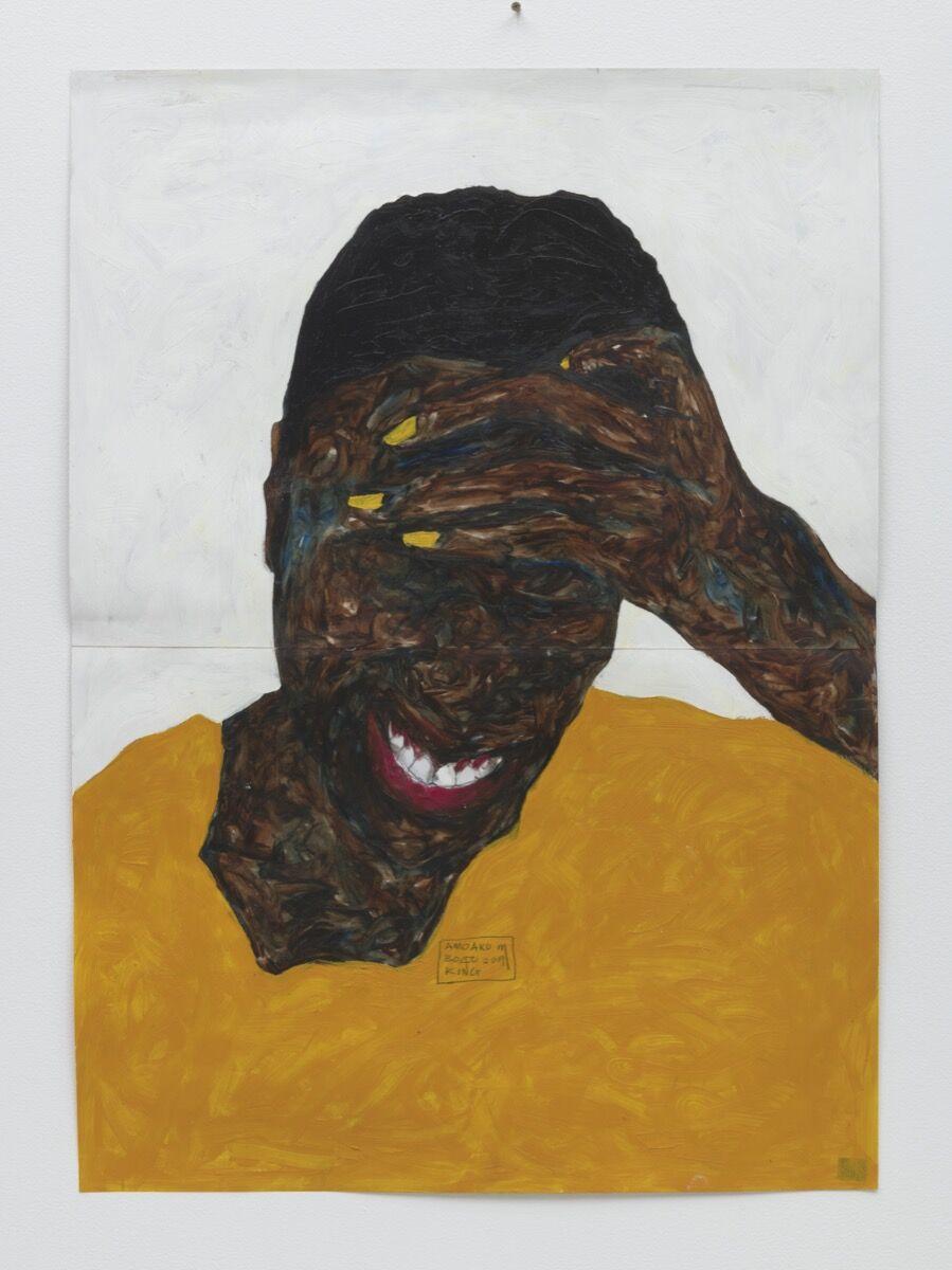 Amoako Boafo, Cobinnah with Yellow Nails, 2019. Courtesy of Phillips.
