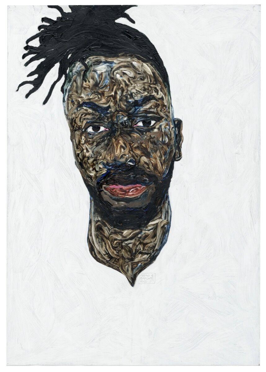 Amoako Boafo, Self Portrait, 2019. Courtesy of Sotheby's.