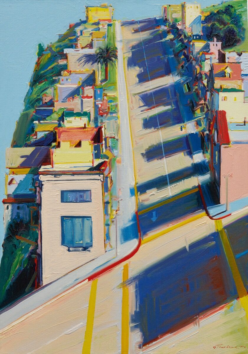 Wayne Thiebaud, Ripley Street Ridge, 1976. Courtesy of Sotheby's.