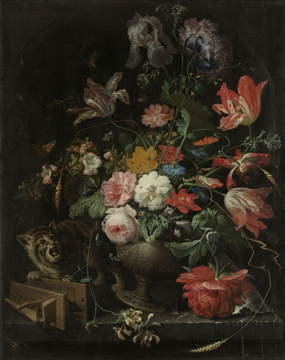 Abraham Mignon, The Overturned Bouquet, 1660-79. Courtesy of Rijksmuseum.