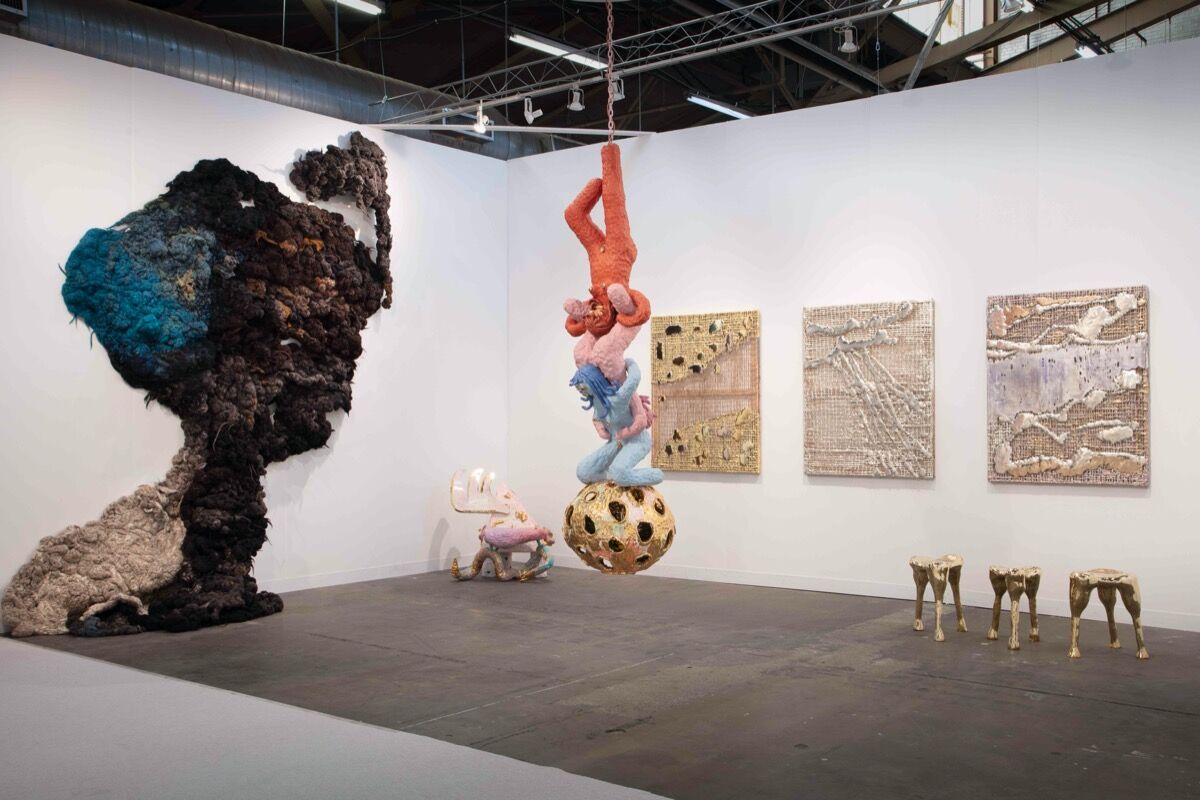 Installation view of R & Company's booth at The Armory Show, New York, 2020. Courtesy of R & Company, New York.