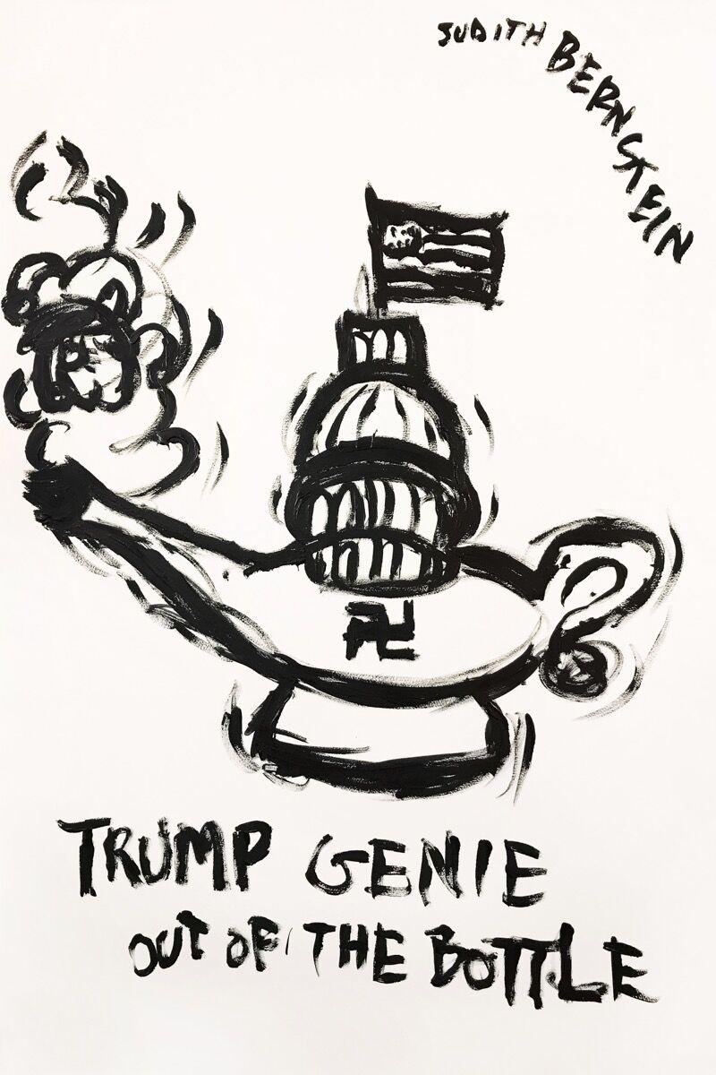Judith Bernstein, Trump Genie, 2016. Courtesy of the artist.