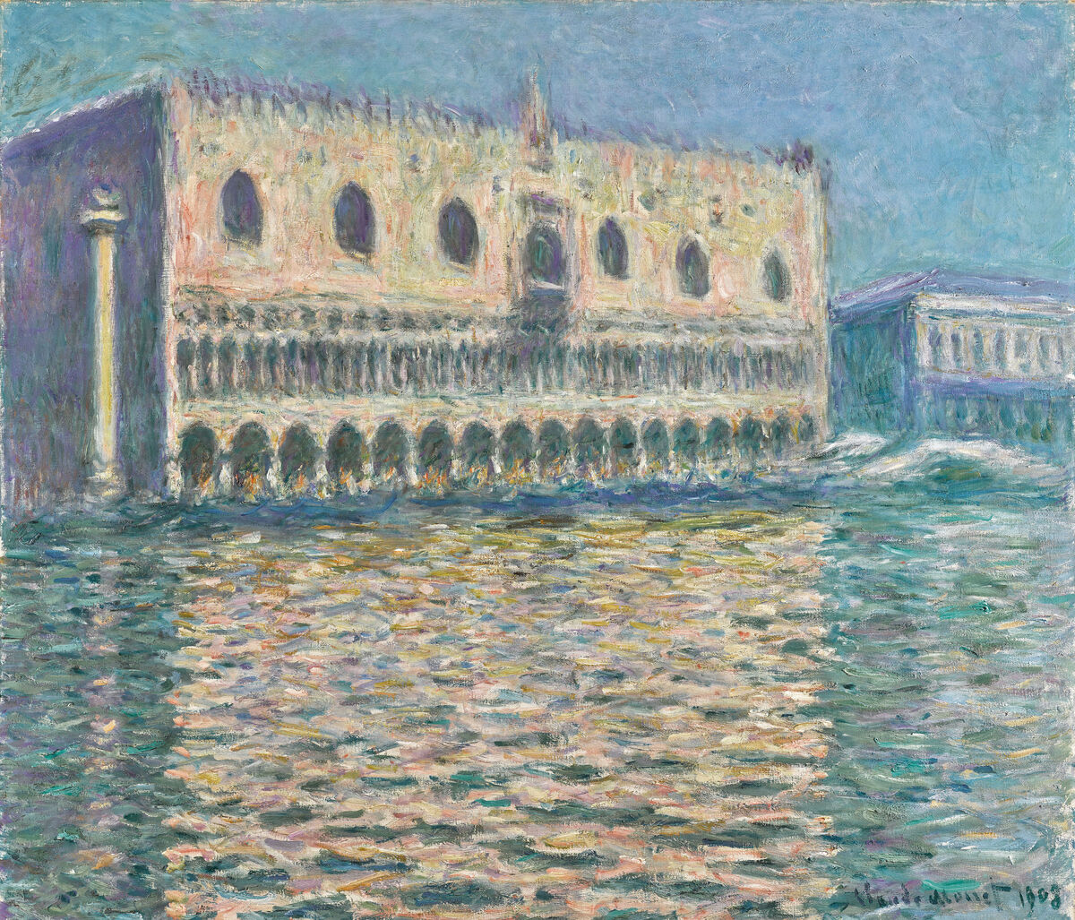 Claude Monet, Le Palais Ducal, 1908. Courtesy of Sotheby's.