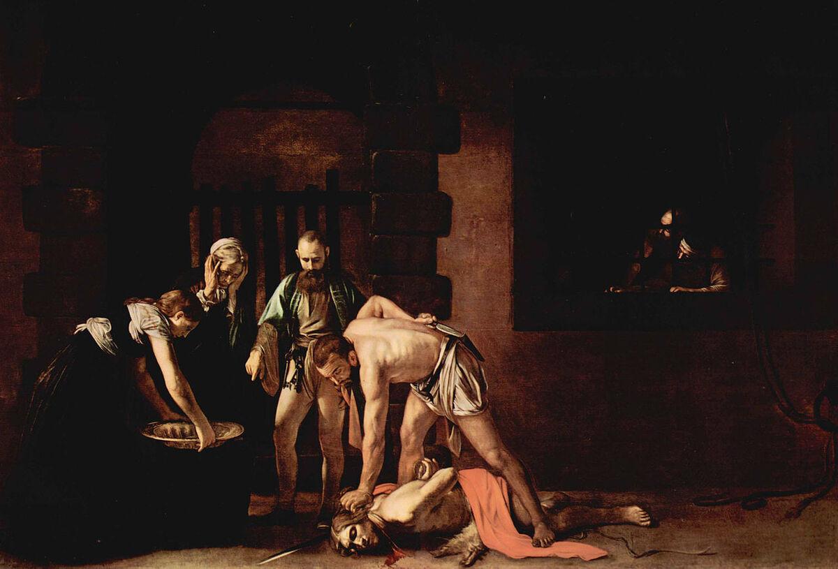 Caravaggio, The Beheading of St. John the Baptist, 1608. Image via Wikimedia Commons.
