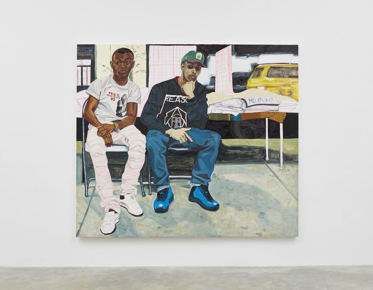 Jordan Casteel, A-Thug and Louie, 2017. Courtesy of Casey Kaplan, New York.