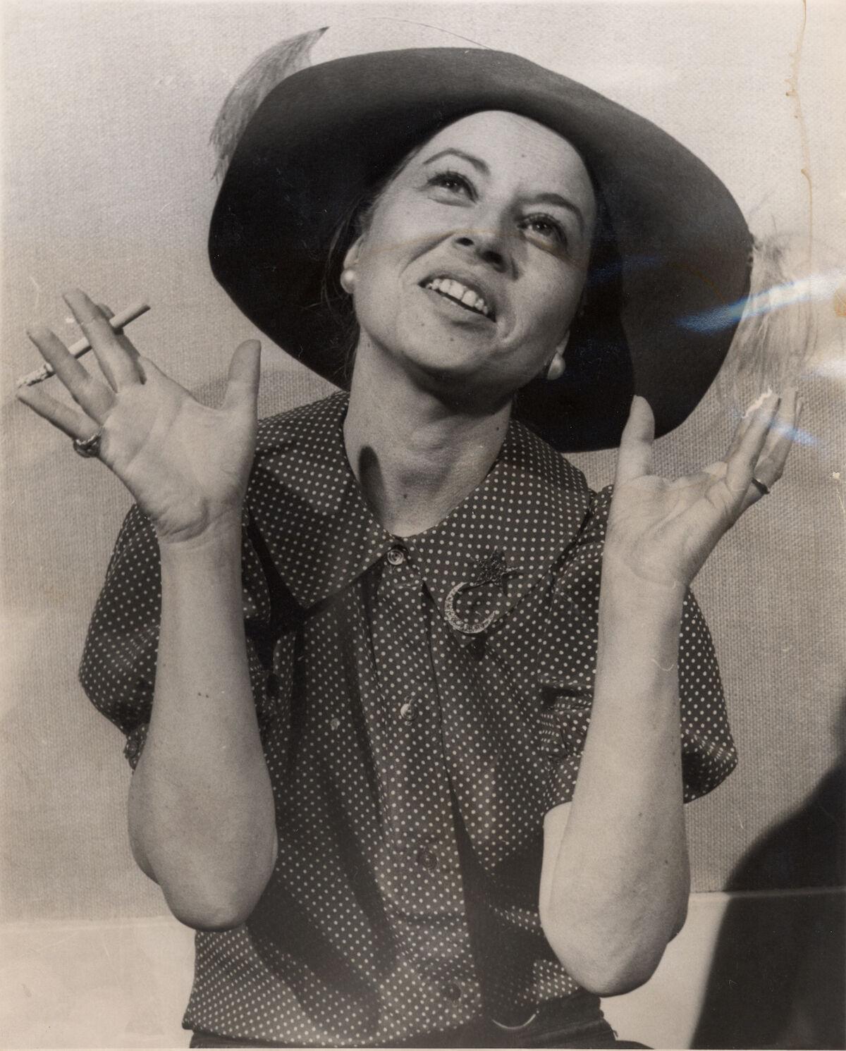 Portrait of Holly Solomon at 98 Green Street circa 1976. Courtesy of Thomas Solomon.