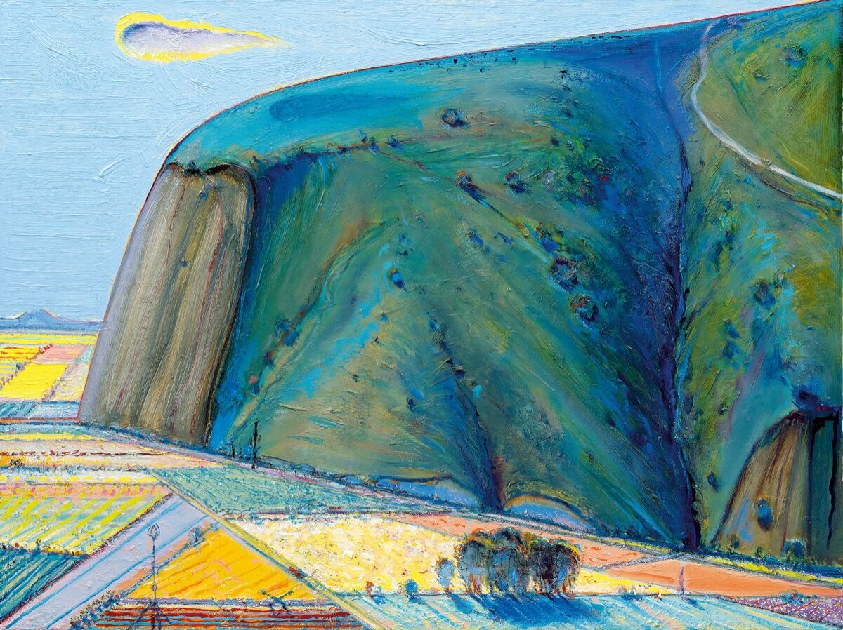 Wayne Thiebaud, Around Yountville, 2008-11/2018. © Wayne Thiebaud / Licensed by VAGA at ARS, New York.