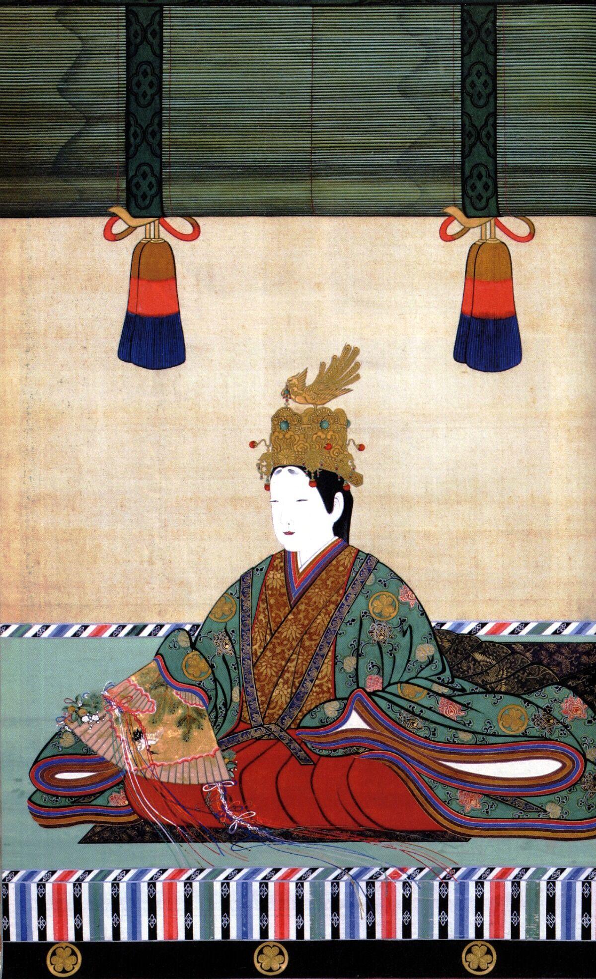 Portrait of,  Tokugawa Masako  Edo Period. Image via Wikimedia Commons.