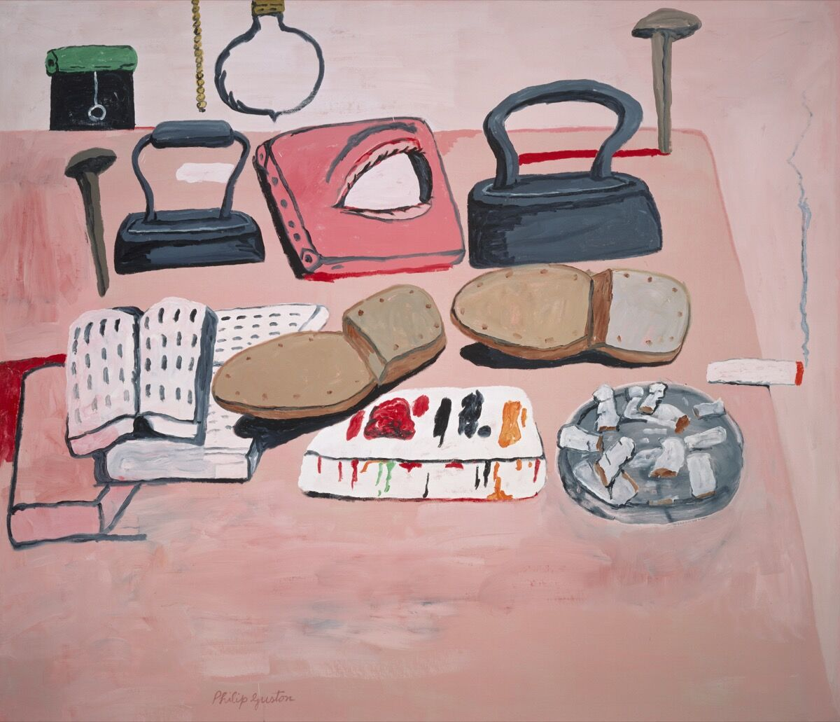 Philip Guston  Painter's Table  , 1973. © The Estate of Philip Guston.