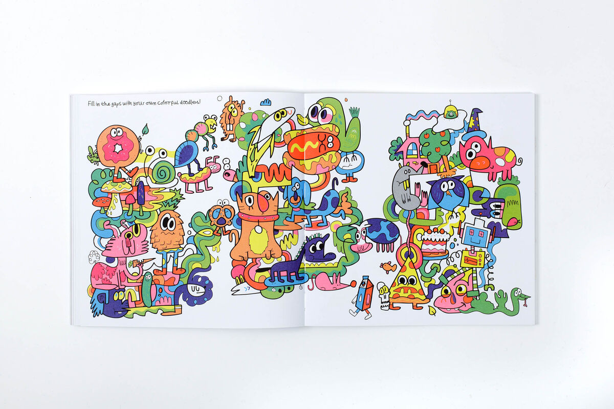 Pages from Jon Burgerman's Daily Doodle. Courtesy of the artist.