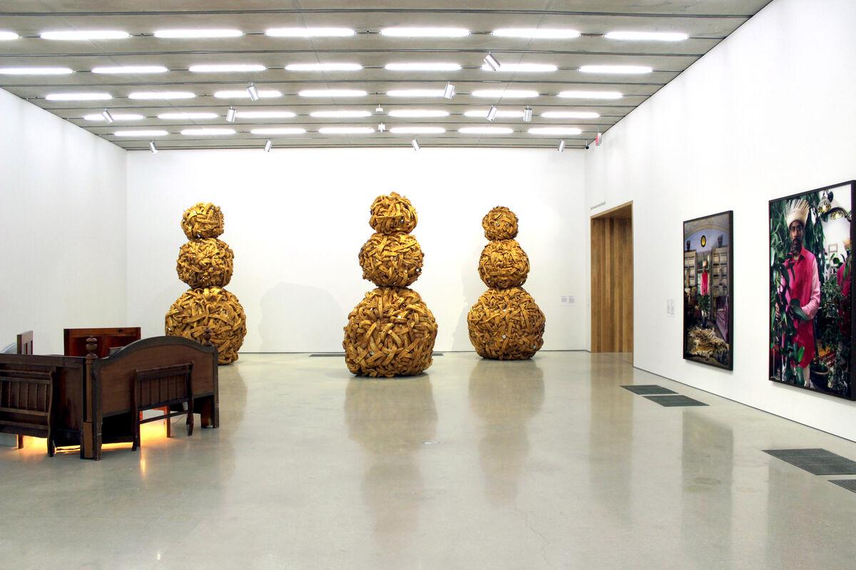 "Installation view of ""Nari Ward: Sun Splashed"" courtesy of Pérez Art Museum Miami."