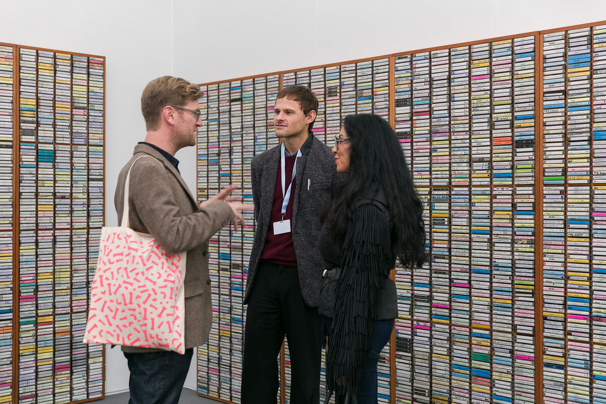 Installation view of Park View / Paul Soto's booth at Frieze Los Angeles, 2019. Photo by Mark Blower. Courtesy of Mark Blower/Frieze.
