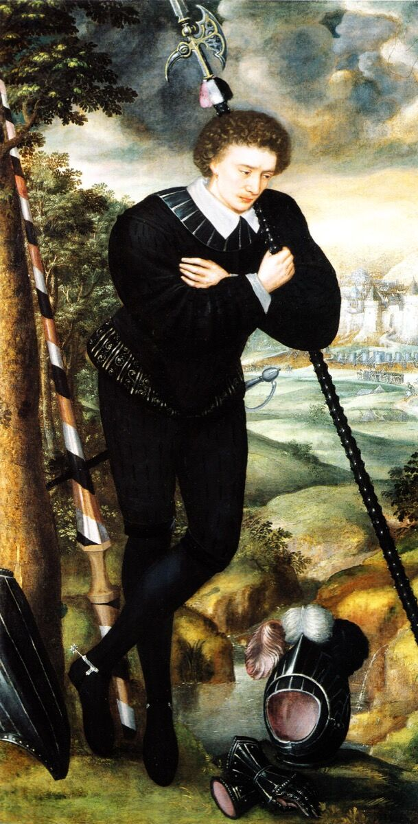 Unknown Artist, Man in Mourning for Sir Philip Sidney, c. 1587. Image via Wikimedia Commons.