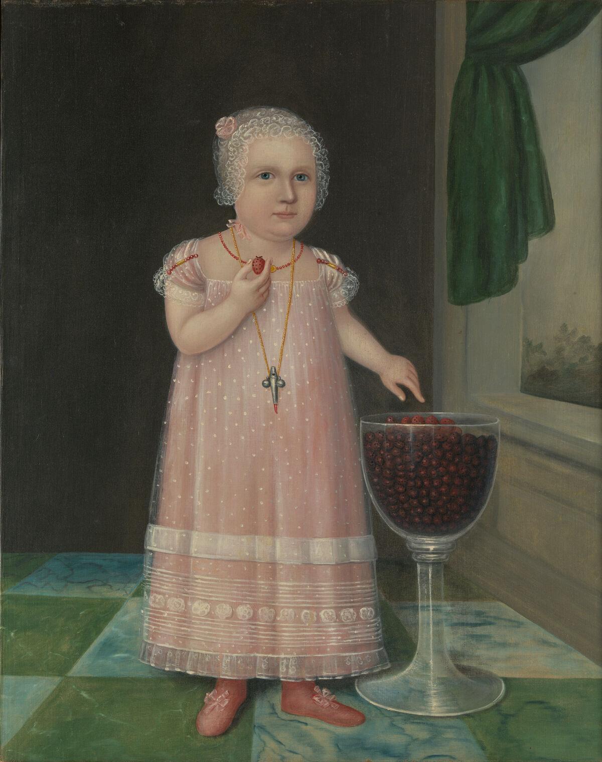 Joshua Johnson, Emma Van Name, c. 1805. Courtesy of Metropolitan Museum of Art.