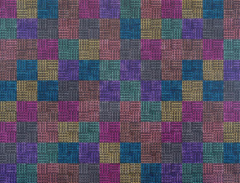 McArthur Binion, Modern:Ancient:Brown, 2021. Courtesy the artist and Lehmann Maupin, New York, Hong Kong, Seoul, and London.