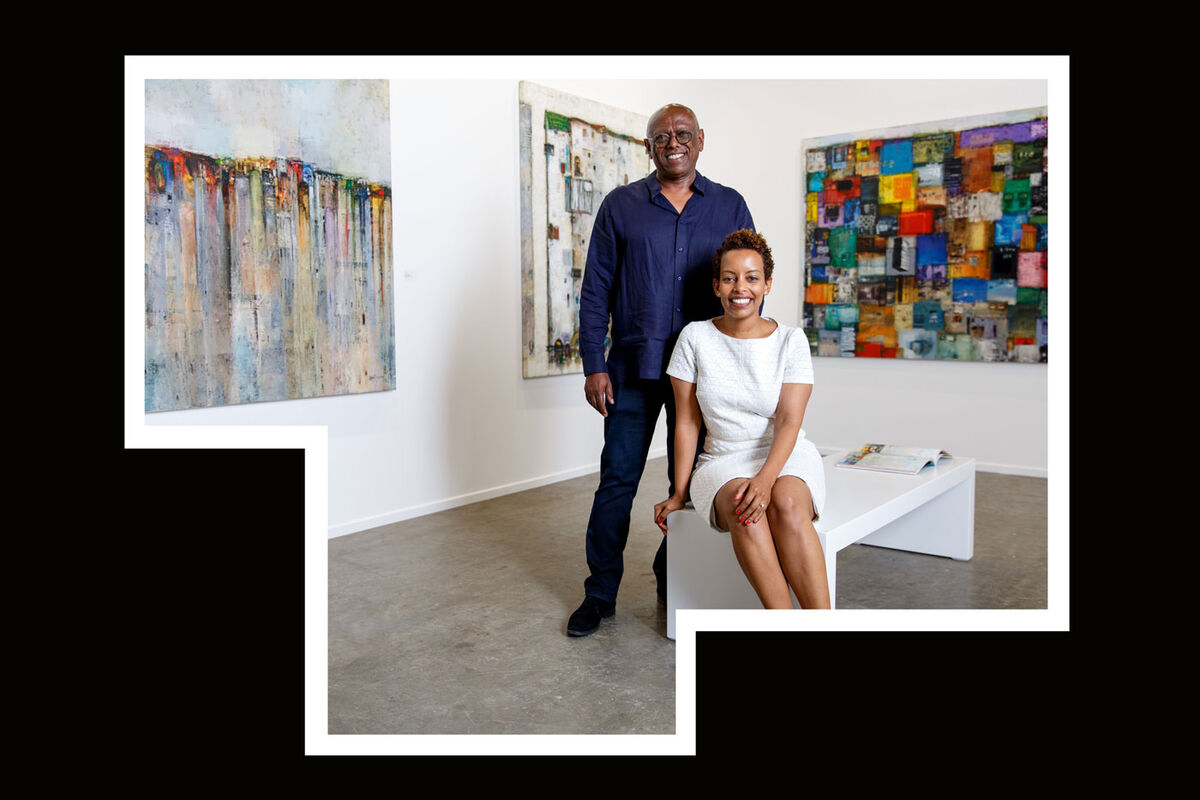 Portrait of Mesai Haileleul and Rakeb Sile courtesy of Addis Fine Art.